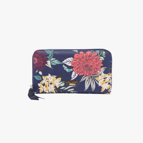 Portefeuille bleu  I-Damma Flower