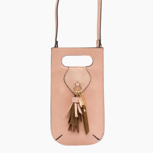 Pochette portable rose pale Isis