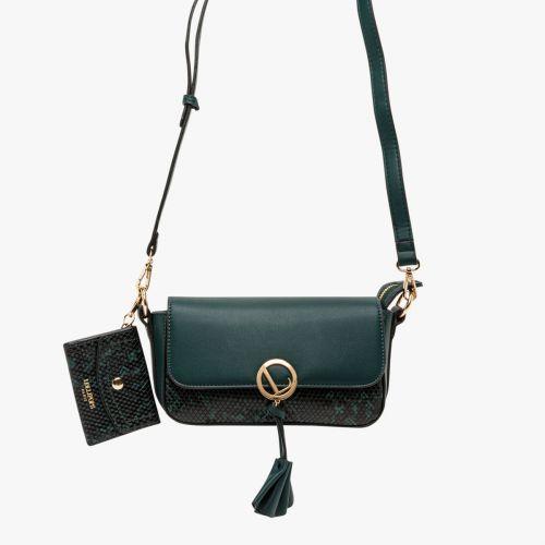 Petit sac bandoulière vert Ily