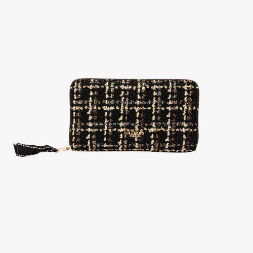 Portefeuille noir I-Damma Tweed
