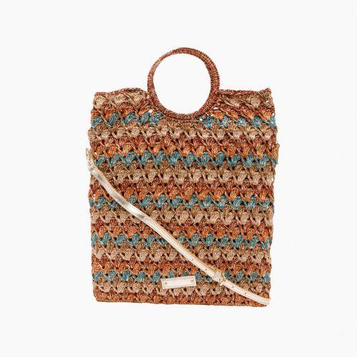 Sac à main en crochet multicolore Halize