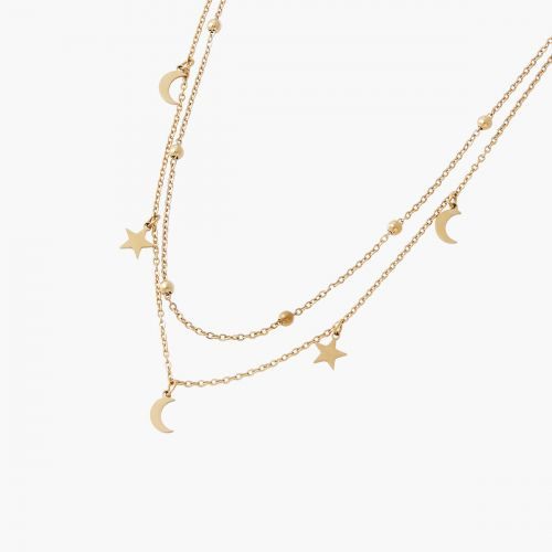 Collier 2 rangs charms