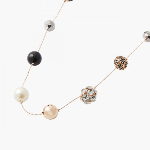 Sautoir doré multi-perles