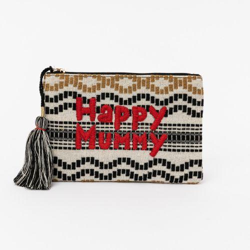 Pochette motif bohème Happy Mummy