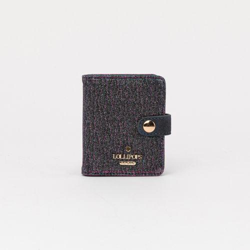 Porte cartes bleu pailleté Carol