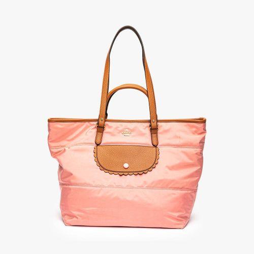Sac shopper en toile rose Leona
