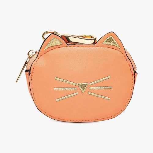 Porte-monnaie chat rose Féline