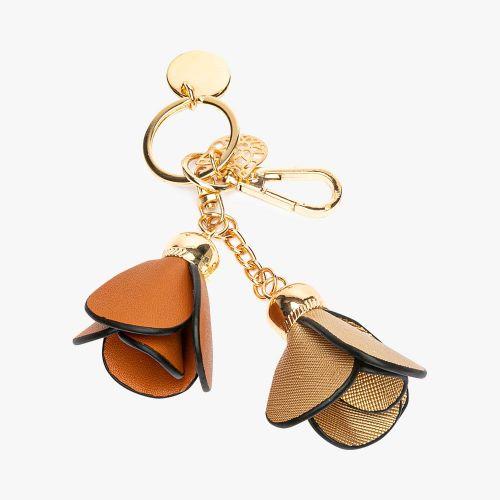 Porte-clés fleurs dorées Flambeur