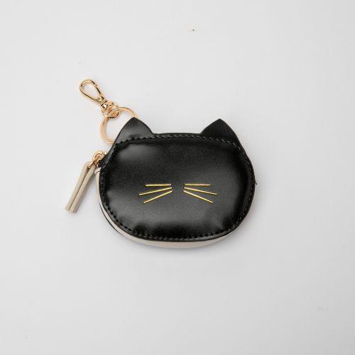 Porte-monnaie bicolore chat noir et blanc Elady