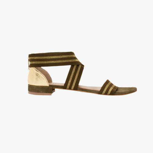 Sandales en cuir vertes Heaven