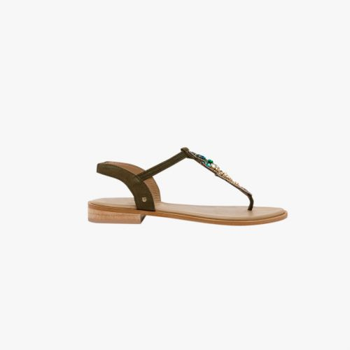 Sandales Vertes en cuir H-Fabulous