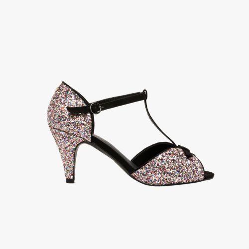 Sandales noires glitter Hola