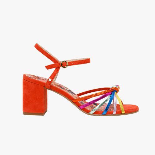 Sandales rouges en cuir Harpie