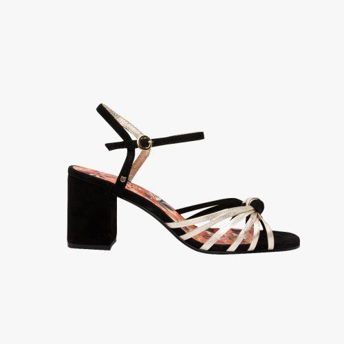 Sandales noires en cuir Harpie