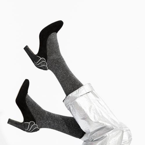 Escarpins noirs en cuir suedé G-Louise : Lollipops sacs et maroquinerie