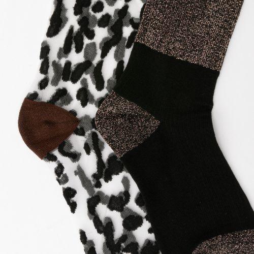 Lot de 2 paires de chaussettes marron/noir