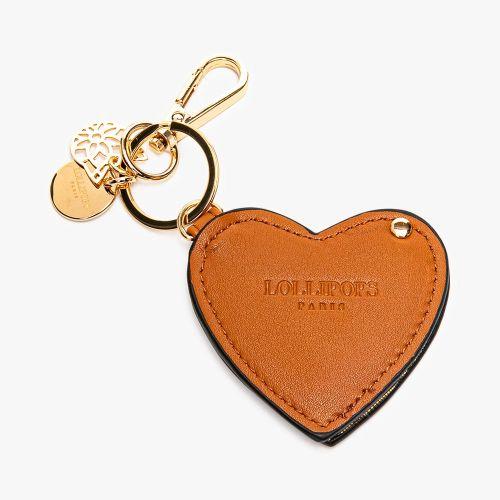 Porte-clés cœur doré Flambeur