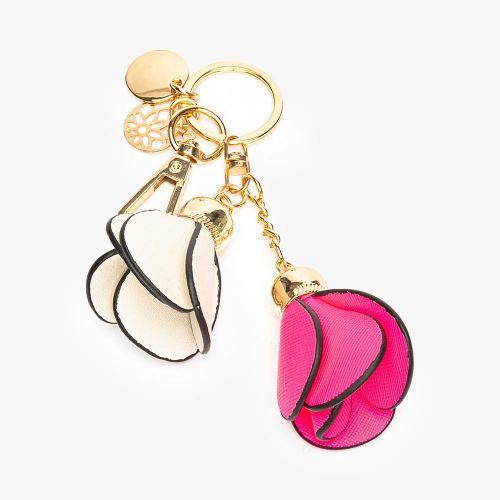 Porte-clés fleurs rose Flambeur