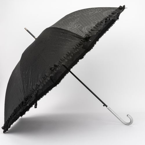 Grand parapluie glitter noir
