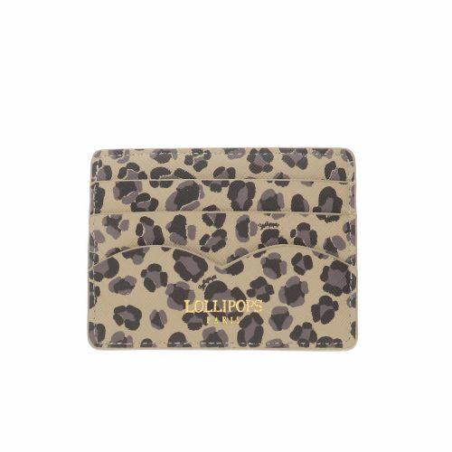 Porte carte Elove léopard