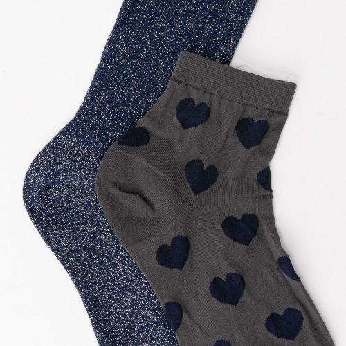 Lot de 2 paires de chaussettes bleues
