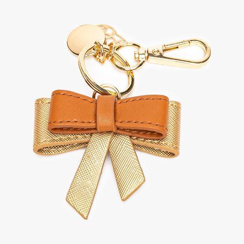 Porte-clés nœud doré Flambeur