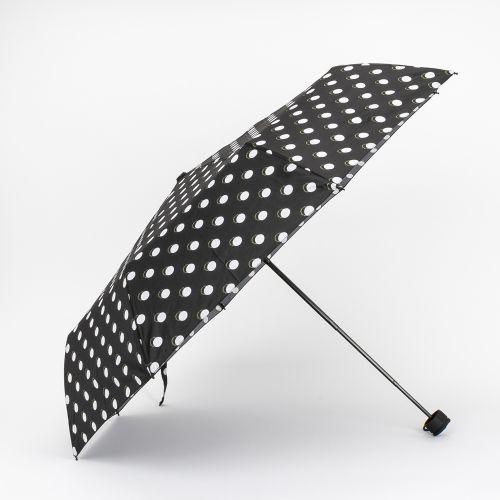 Parapluie pliable à pois noir