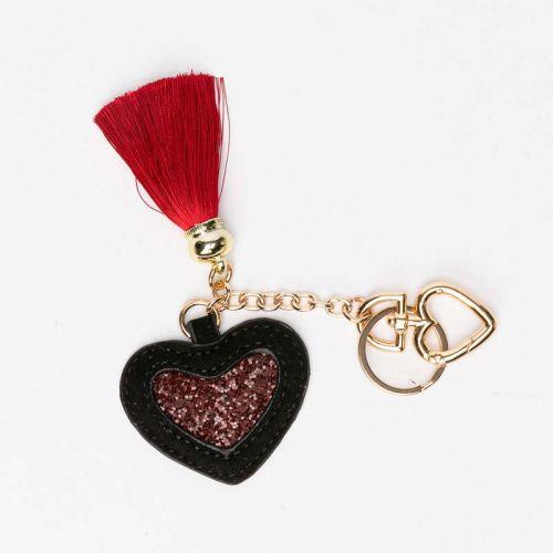 Porte clés cœur noir Elisabeth