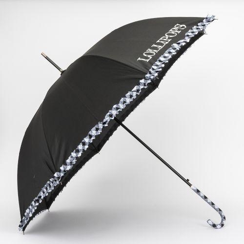 Grand parapluie imprimé vichy noir
